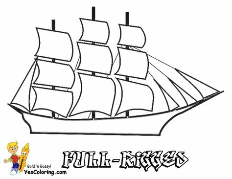 Sky High Tall Ships Coloring Pages Tall Ships Coloring Pages