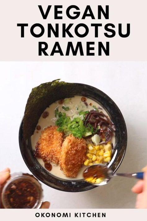 Vegan Tonkotsu Ramen with Tofu Katsu