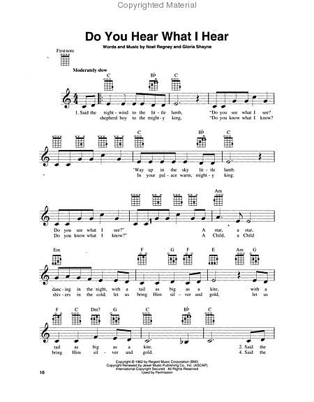 christmas songs | Christmas Songs For Ukulele Sheet Music By ...