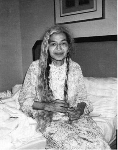 Vintage Photo Shows Rosa Parks Taking Down Her Waist-Length Hair at Night (Black Girl with Long Hair)