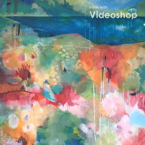 Abstract Acrylic Painting Timelapse- Andrea Garvey