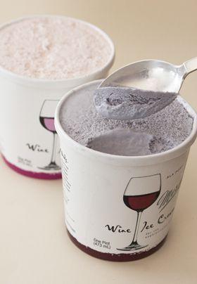 #Wine ice cream. 5% alcohol.  MEGAN!