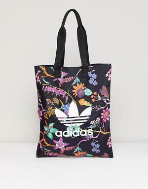 Adidas Originals Floral Print Reversible Tote Bag Reversible