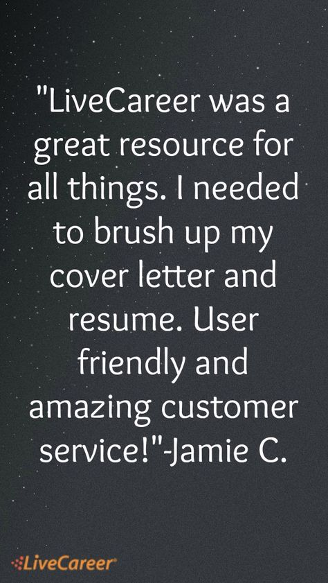 I had a really good experience with LiveCareer I used the service - livecareer customer service number