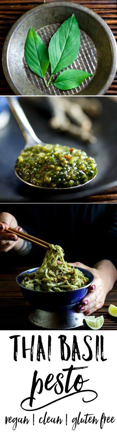Thai Basil Pesto | if you grow Thai basil you need this recipe! A reader favorite. Thai-i-fy anything, quick easy and so delicious! | eat healthy eat happy