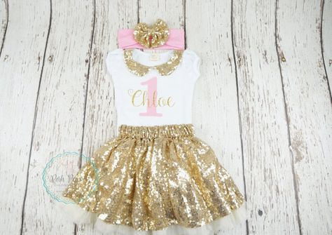 e50f64488 1st girl birthday outfit first birthday second by PoshPeanutKids ...