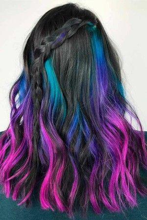 25+ INSPIRAÇÕES PARA CABELOS COLORIDOS :: Vw83 | Cabelo lindo, Cabelo  castanho com mechas, Luzes coloridas cabelo
