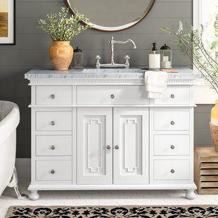 48 Inch Bathroom Vanities You Ll Love Wayfair Single Bathroom Vanity Simple Bathroom Decor Bathroom Vanity