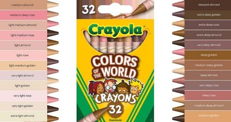 Human skin color ranges from the lightest hues to the darkest brown. The wide variety of skin tones inspired Crayola to launch its Multicultural Crayons.