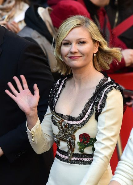 """Us actress Kirsten Dunst arrives for a photo call for the film """" Midnight Special by Jeff Nichols"""" screened in competition of the 66th Berlinale Film Festival in Berlin on February 12, 2016. / AFP / John MACDOUGALL"""