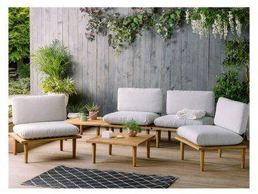 4 Sitzer Lounge Set Bulwell Mit Polster Outdoor Sofa Sets Gartensofa Sitzgruppe