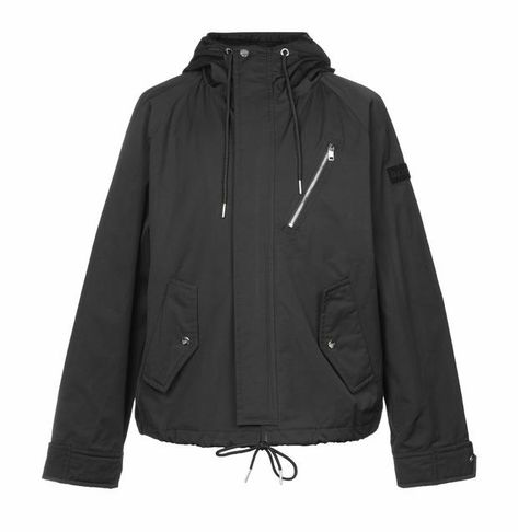 Diesel Black Hooded Short Parka Jacket - XL