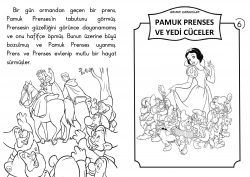 1 Sinif Hikaye Kitaplari Pamuk Prenses Ve Yedi Cuceler Kitap