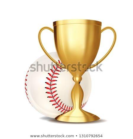 Baseball Award Vector Baseball Ball Golden Cup For Sport Promotion Tournament Championship Flyer Design Baseba Baseball Award Baseball Balls Sport Banner