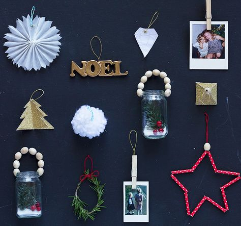 Ten Quick DIY Christmas Tree Ornaments