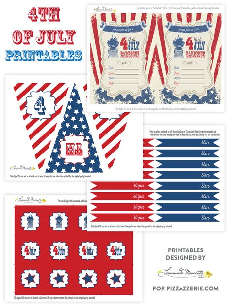 {Freebie} Fourth of July Party Printables!