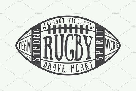 American football and rugby emblems - Daily Sports News & Live Stream Fotball Channel