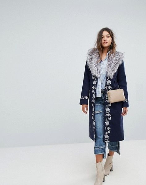 Embroidered Wrap Coat - Crazy Winter Coats You Need to Spice Up Your Wardrobe This Winter - Photos