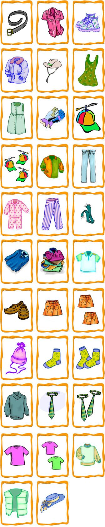 Clothing FlashCards Preview More