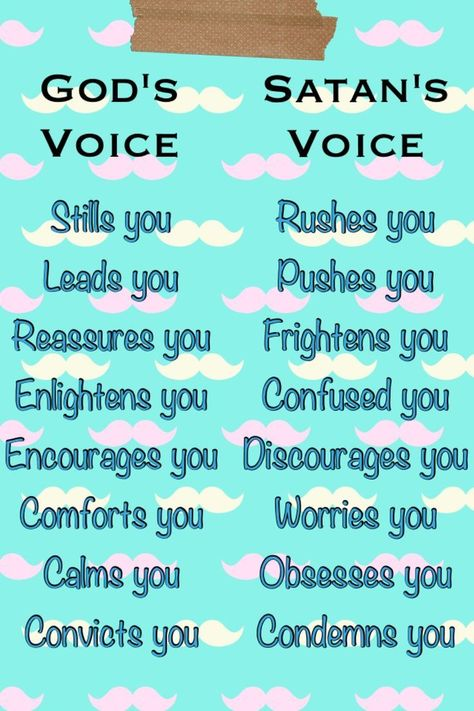 The beautiful difference between God's Voice vs. Satan's Voice.
