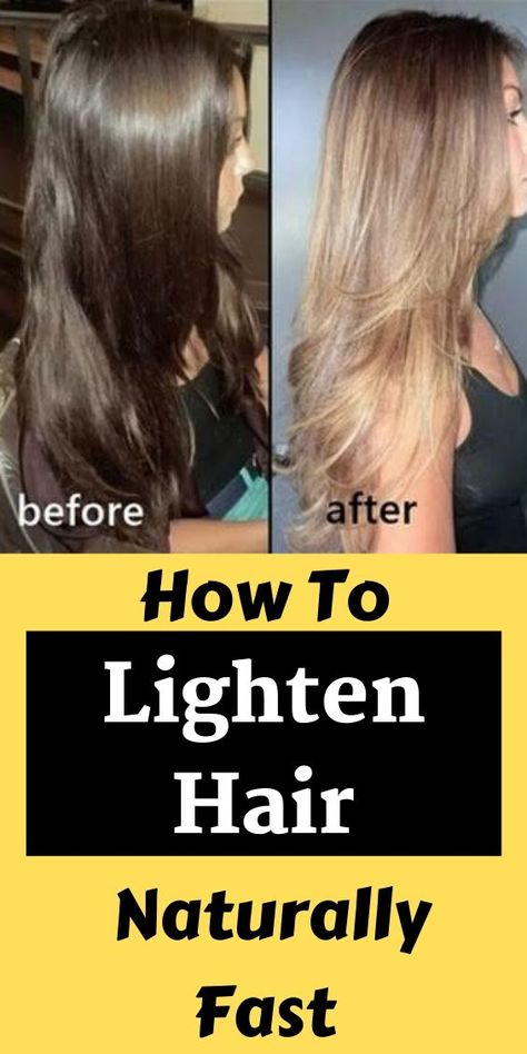Lighten Hair At Home, How To Dye Hair At Home, How To Make Hair, Lemon To Lighten Hair, Diy Lighter Hair, Lighter Hair Naturally, Hair Dye Tips, Curly Hair Tips, Lemon Hair Lightening