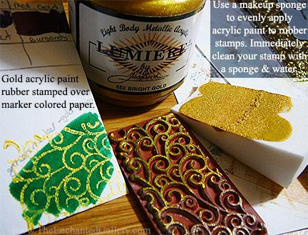 As An Alternative To Rubber Stamping Ink Any Ac Gold