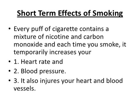 cause and effects of smoking cigarettes essay Cigarette smoking: health risks and smoking is the leading cause of cancer in the when smokers do not quit smoking completely but smoke fewer cigarettes.