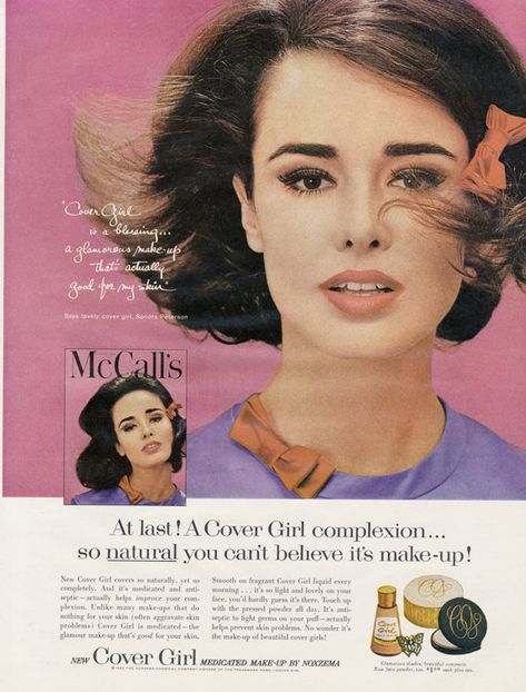 1962 Cover Girl Make-up Ad Vintage Cosmetics by AdVintageCom