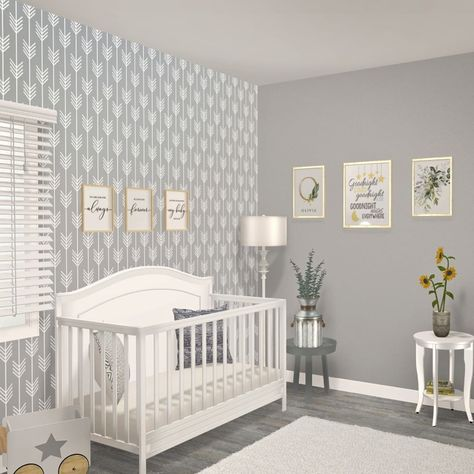 See this beautiful baby boy/girl - neutral nursery or create your own in 3D  #nursery #babyroom #nurserydecor #baby #babygirl #interiordesign #neutral
