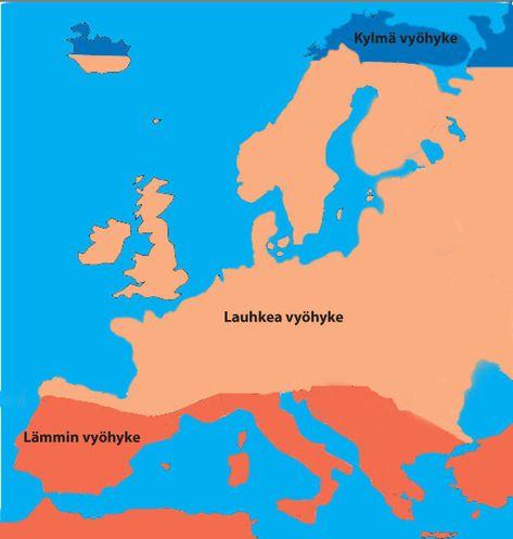 Peda Net Euroopan Ilmasto Ja Kasvillisuus Eurooppa Maantiede Ja