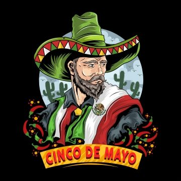 Cinco De Mayo Mexican With Mexico Flag And Hat Beard Face Male Png Transparent Clipart Image And Psd File For Free Download Mexico Flag Cartoon Faces Hat Drawing