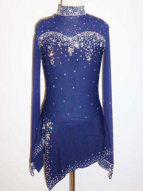 BRAND NEW Gorgeous Figure Skating Dress Ladies XS w/CRYSTALS in Sporting Goods | eBay