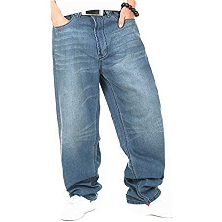 Is Money Time Rocawear Mens Double R Loose Fit Denim Jeans Skater SWB Hip Hop