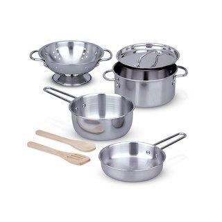 Melissa Doug Let S Play House Stainless Steel Pots Pans Play Set House Decoracao Quarto Menina