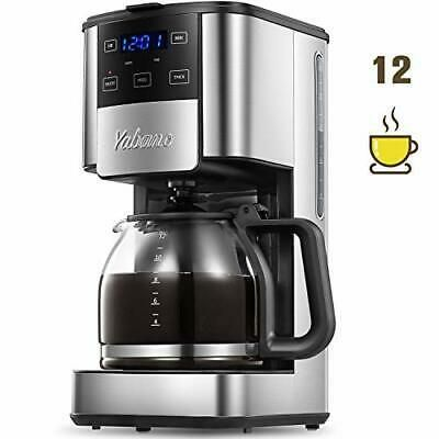 Programmable Coffee Maker 12 Cups Glass Carafe With Keep In 2020 Coffee Filter Baskets Coffee Maker Bunn Coffee Maker
