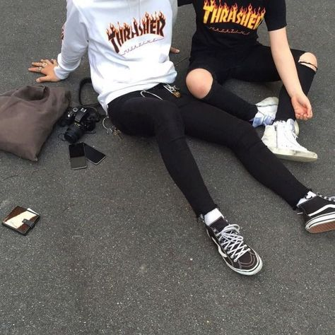 Thrasher Magazine skateboard clothing outfits