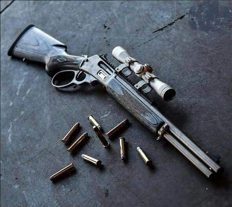 Modern Take on a Western Repeater Rifle with Scope & Lose Rounds.