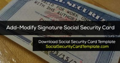 What S The Size Of A Standard Ssn Card Usa Social Security Card Card Template Report Card Template