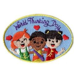 Thinking Day Patch Embroidered Appliqué International Girl Scout Guide Patch New