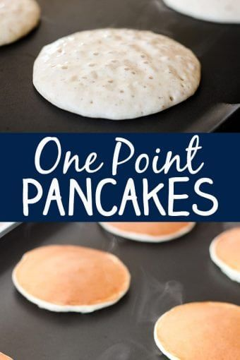 These skinny pancakes are perfectly fluffy and delicious and you would never know that they are just one Weight Watcher Smart Point each! These pancakes have no added sugar or fat and are made Weight Watchers Pancakes, Weight Watchers Breakfast, Weight Watchers Meals, Weight Watchers Recipes With Smartpoints, Ww Recipes, Cooking Recipes, Recipies, Healthy Recipes, Greek Yogurt Pancakes