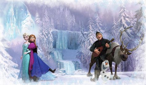 FROZEN CHAIR RAIL PREPASTED MURAL 6' X 10.5' - ULTRA-STRIPPABLE