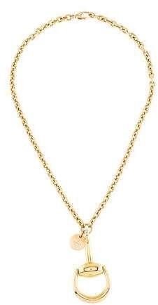 402469f8a Gucci 18K Horsebit Pendant Necklace #Gucci#Horsebit#Necklace ...