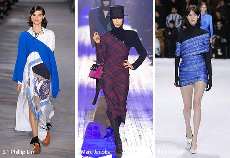 Fall/ winter fashion trends: covered-up single-shoulder clothing