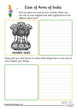 India Resources And Worksheets In 2021 India For Kids Coat Of Arms India Crafts