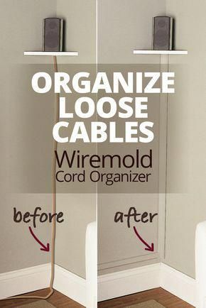 The Wiremold Cornermate Cord Organizer Lets You Hide And Organize Loose Cables By Running Them Along A Corner Of Your In 2020 Cord Organization Hide Tv Wires Home Diy