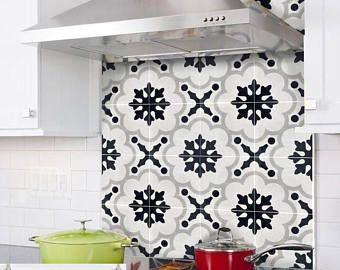 Tile Sticker Kitchen bath floor wall Waterproof & Removable