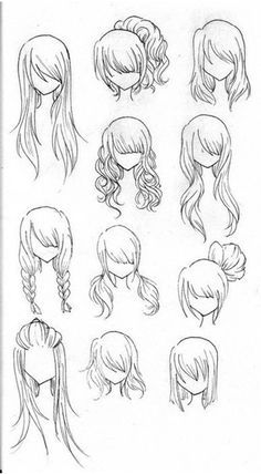 Draw Realistic Hair | Drawing hairstyles, Drawings and Anime