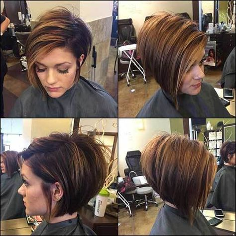 17 Graduated Bob Hairstyles You will Love: #2. Highlighted Graduated Bob Hairstyle; #graduatedbob; #graduated; #bobcut; #bobhairstyle; #bobhaircuts