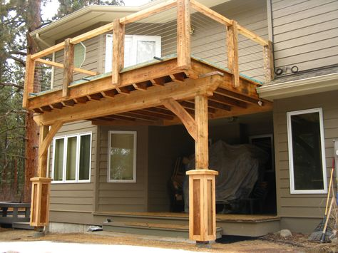 Concrete Patio With Post And Beam Roof Build A Porch On