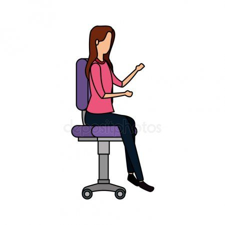 Elegant Businesswoman Worker Seated In Office Chair Stock Vector Ad Worker Seated Elegant Busines Business Women Vector Illustration Design Seated